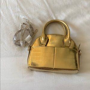 Gold Zara bag